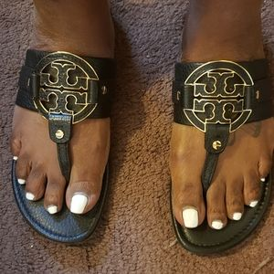 Tory Burch Miller Sandals Gently Used